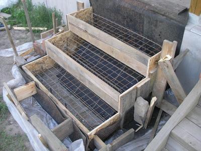 Изготовление крыльца из бетона