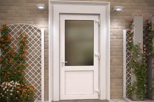 Пластиковые входные двери со стеклом в частный дом