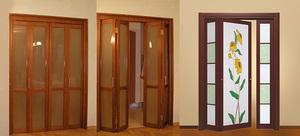 Раздвижные межкомнатные двери-гармошка