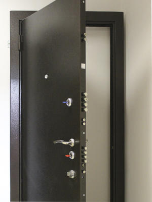 После установки дверь Эльбор Люкс выглядит достаточно презентабельно, но не привлекает лишнего внимания.