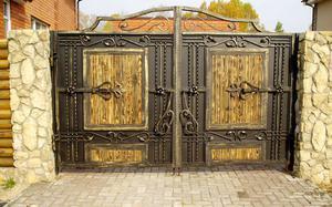 Дизайн красивых ворот