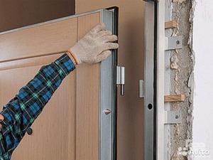 Установить дверь