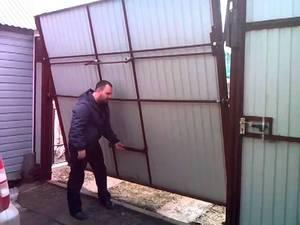 Складные ворота своими руками чертежи видео 99