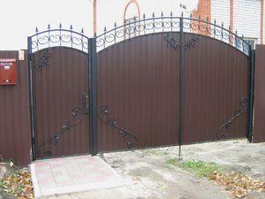 Стиль ковки на воротах