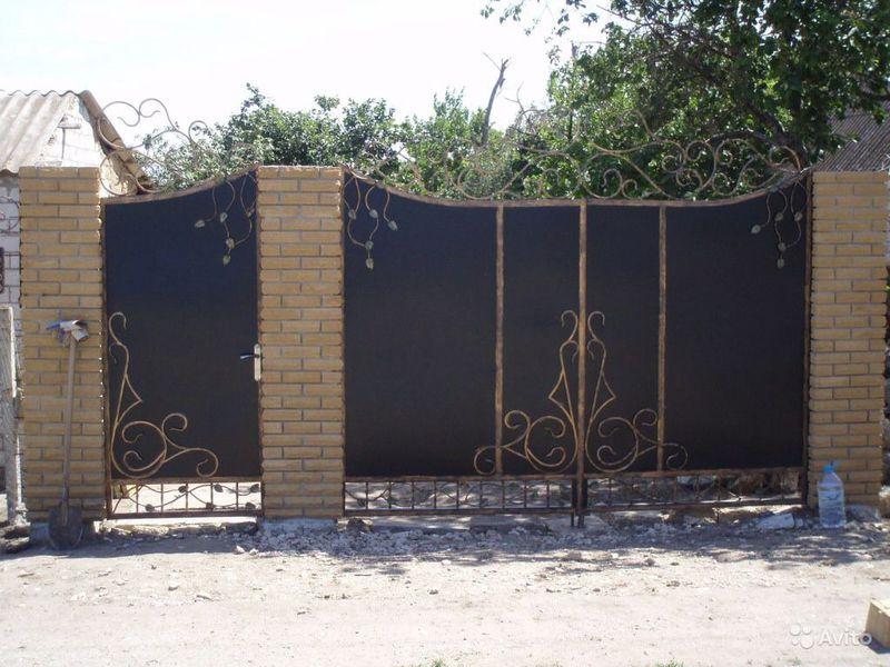 Подъемные ворота своими руками Возле дачи 32