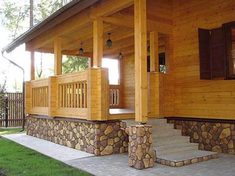 Строим деревянное крыльцо к дому своими руками фото