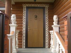 Установка двери в деревянном доме