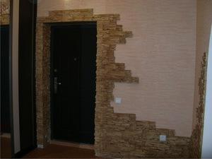 Отделка проема входной двери изнутри