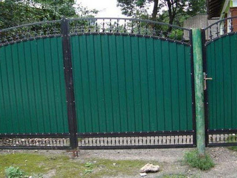 Ворота из профнастила своими руками фото 826