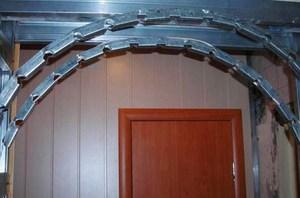 Установка арки в дверной проем своими руками