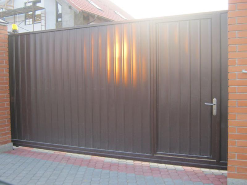 Ворота откатные калитка ворота на дачу металличе