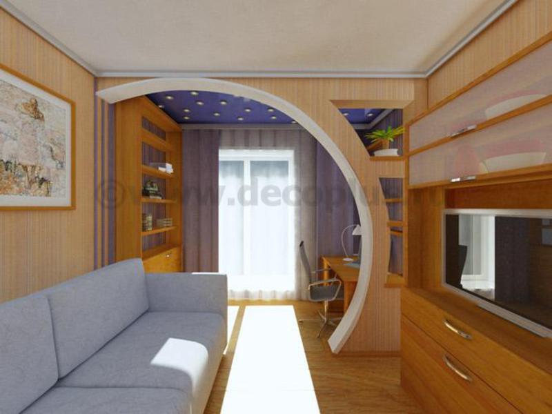 фото арки из гипсокартона дизайн интерьера