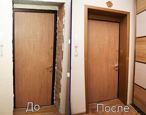 Наличники входной двери своими руками