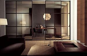 Различные виды перегородок для зонирования пространства комнаты