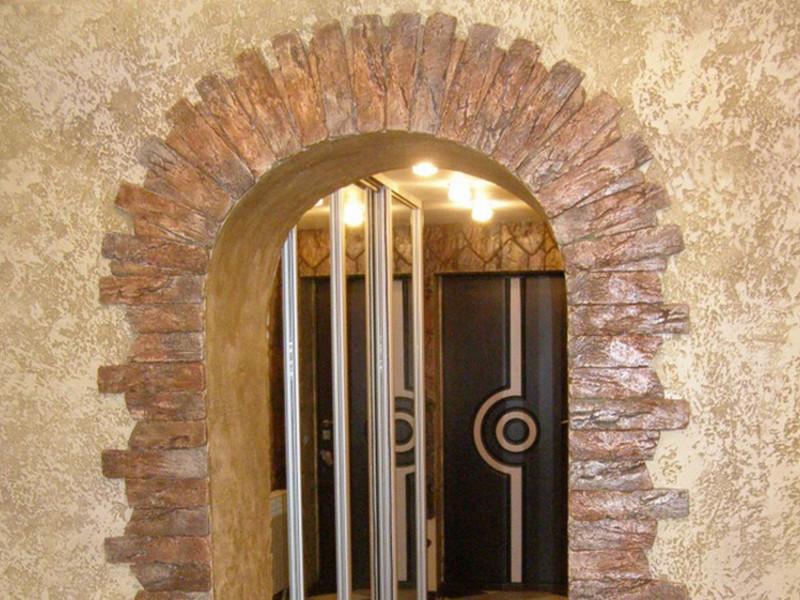 Декоративные арки в квартире: фото отделки под камень - просто и доступно