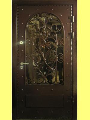 железные двери элементами ковки