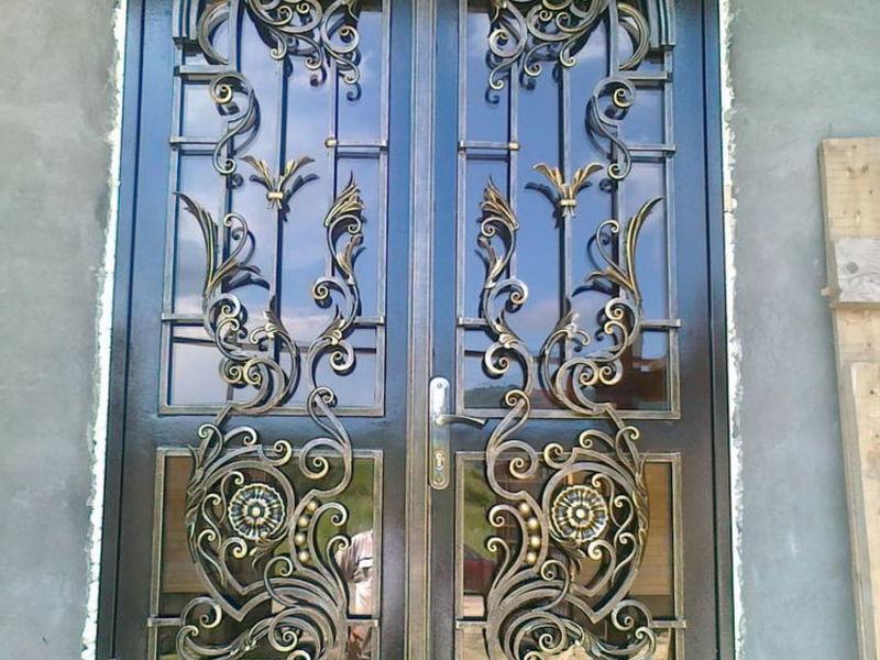 кованые двери входные элитные